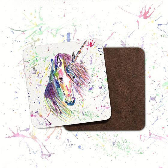Hardboard Coaster( Unicorn)